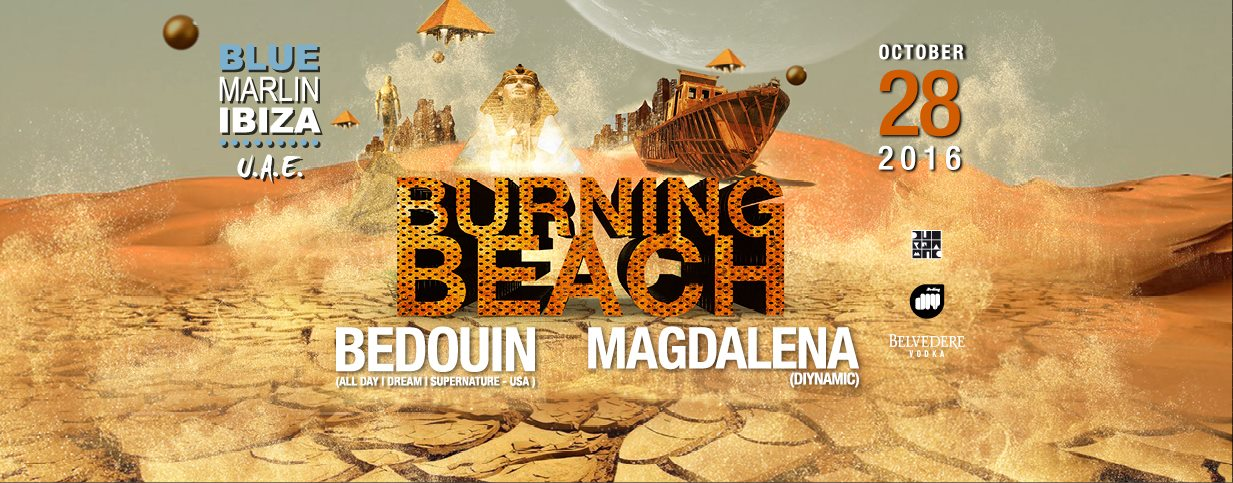 BURNING BEACH with Bedouin and Magdalena