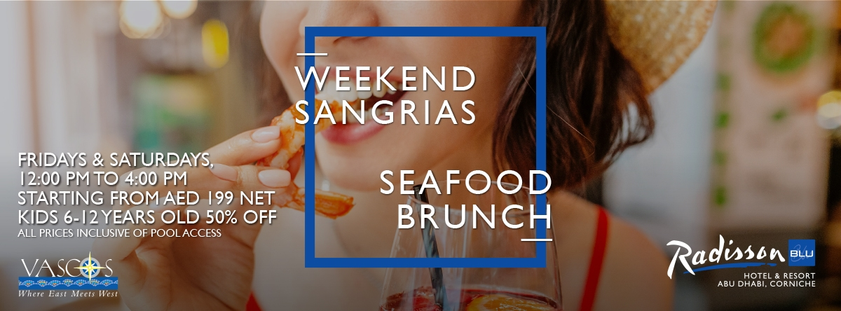 Weekends Sangrias-Seafood @ Vasco's