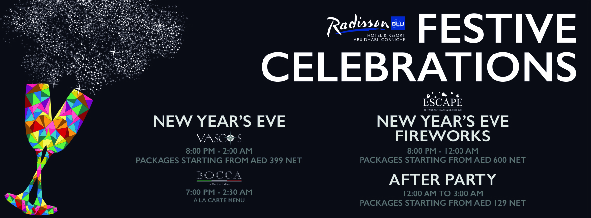 New Year Eve Celebrations @ Radisson Blu Corniche