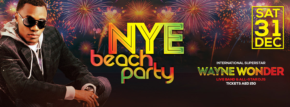 New Year's Eve Beach Party feat. Wayne Wonder @ Sheraton Abu Dhabi