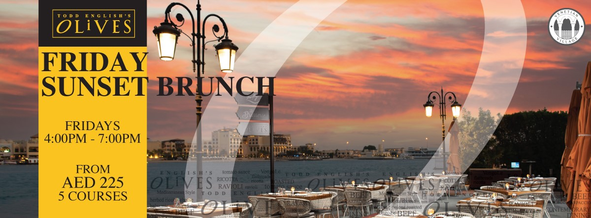 Friday Sunset Brunch @ Todd English's Olives