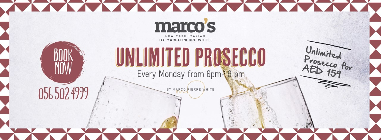 Unlimited Prosecco @ Marco's