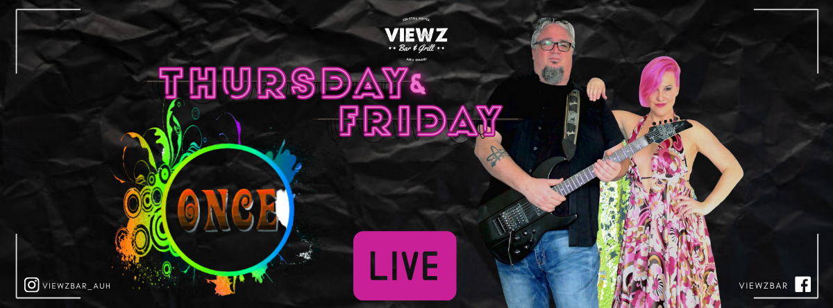 Live Music with Resident Band Once Duo @  Viewz Bar