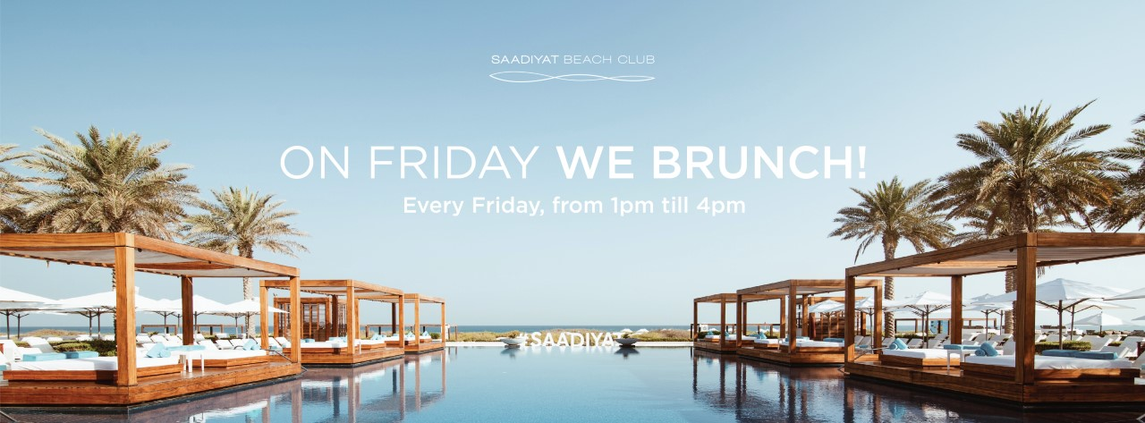 Brunch & Dip @ Saadiyat Beach Club