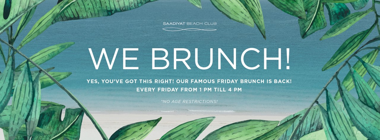 Friday Brunch @ Saadiyat Beach Club