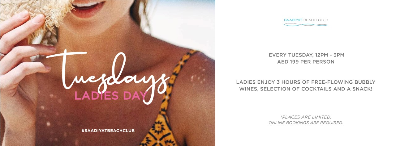 Tuesday Ladies Day @ Saadiyat Beach Club