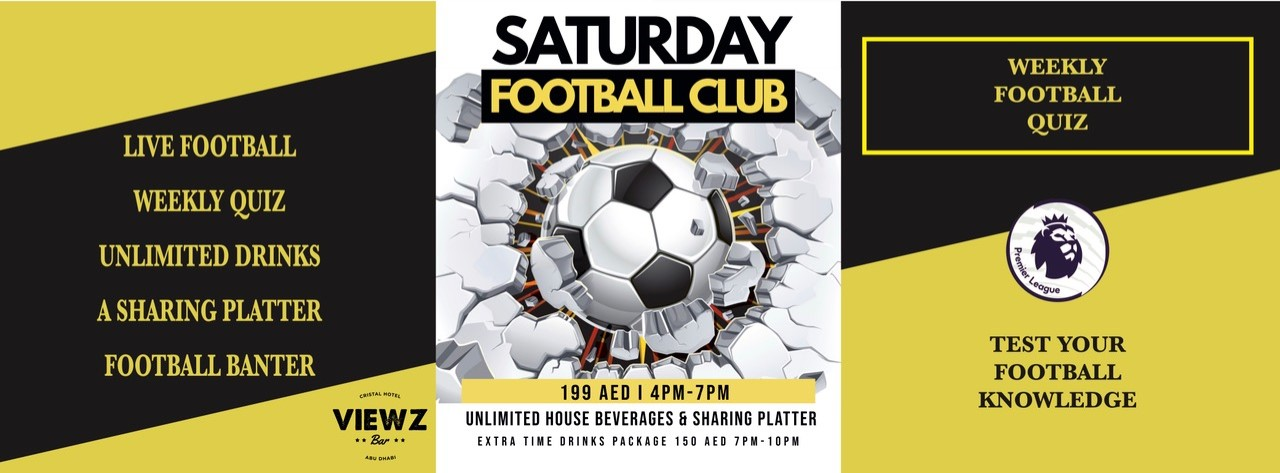 Saturday Football Quiz & Brunch @ Viewz Bar